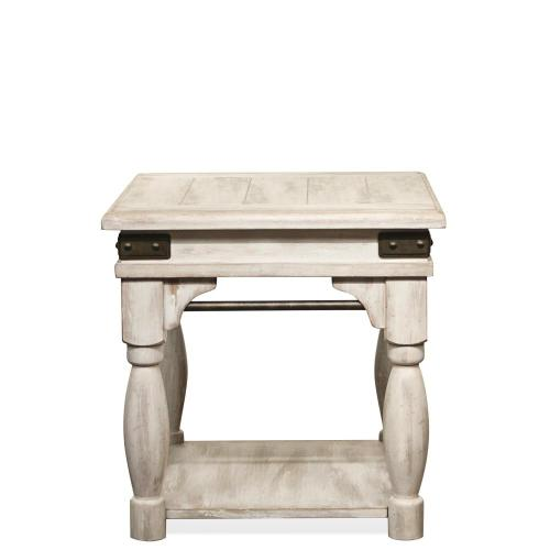 Regan - Side Table - Farmhouse White Finish