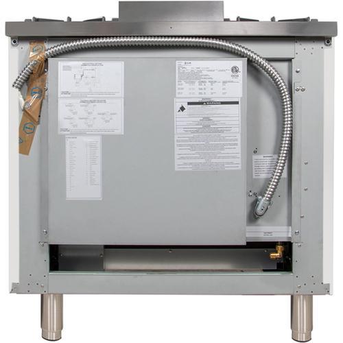 36 Inch White Natural Gas Freestanding Range