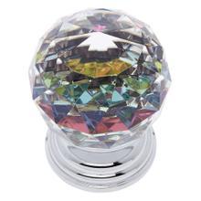 Polished Chrome 50 mm Round Prism Knob