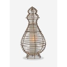 (LS) Orinda Table Lamp-L-Kubu Grey..(16X16X32)..