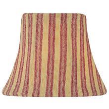 "Candelabra Shade/woven Stripe Red - 3""tx6""bx5""sl"