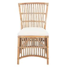 Erika Rattan Accent Chair W/ Cushion - Grey White Wash / White