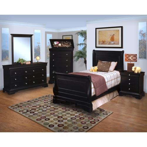 Belle Rose Full Sleigh Bed