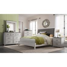 Del Mar E King Bed HB/FB/R - White & Grey