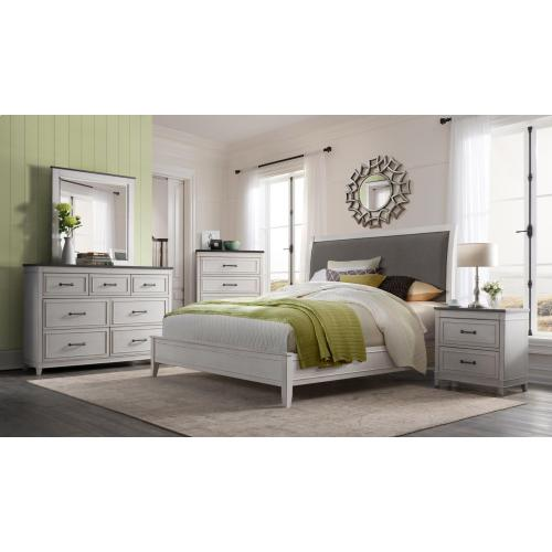CA King HB/FB/R/D/M/NS - White & Grey