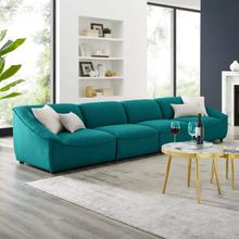 Comprise 4-Piece Sofa in Teal
