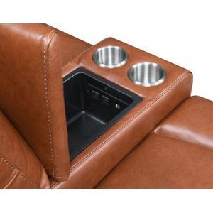 Natalia Dual Power Console Loveseat Recliner-Coach