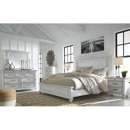 Kanwyn Queen Panel Bed Whitewash