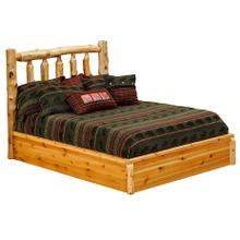 Traditional Platform Bed - Cal King - Vintage Cedar