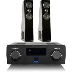 Prime Wireless SoundBase - SoundBase with Ultra Tower / Black Oak Veneer