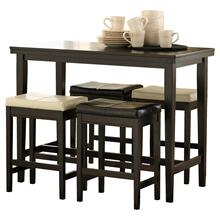 5 Piece Set (Pub Table and 4 Stools)