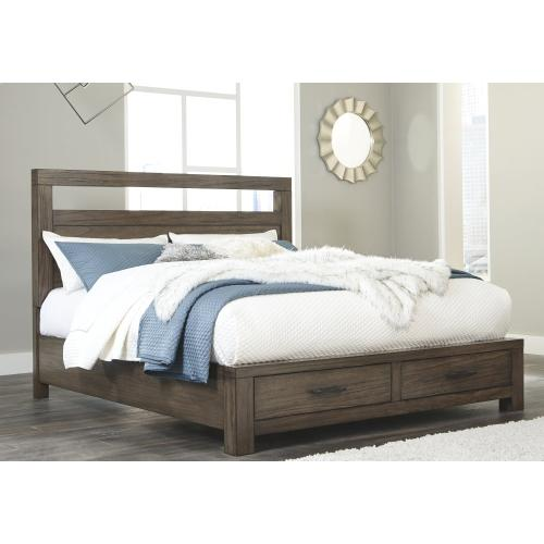 Deylin California King Panel Bed With 2 Storage Drawers
