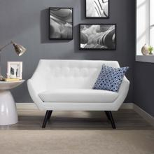 Allegory Loveseat in White
