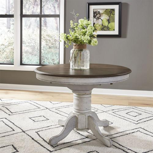 3 Piece Round Table Set- White