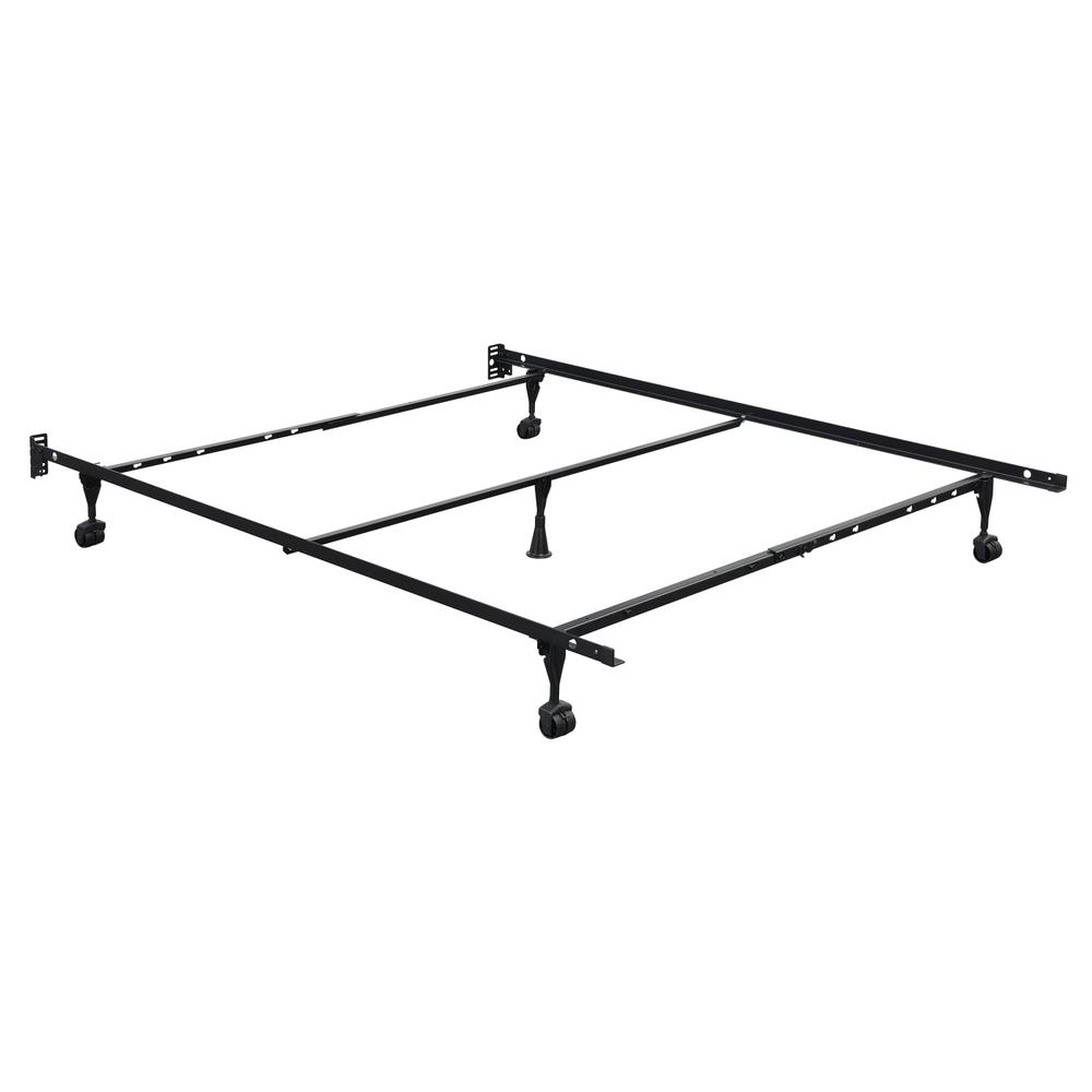 Metal Frame Twin/full/queen Bedframe, Black Fr3450