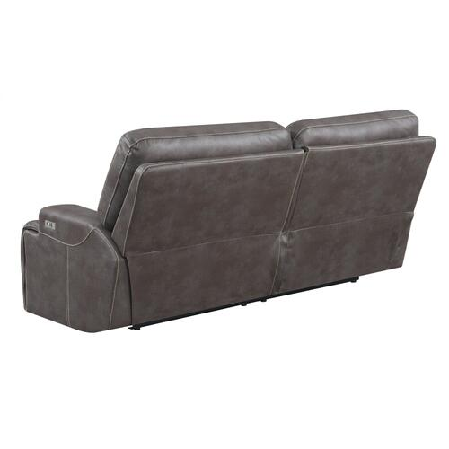 Emerald Home Highland U8058-18-05 Power Sofa W/ Usb Power Outlet