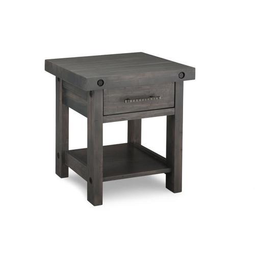 Handstone - Rafters End Table w/Drawer w/Shelf