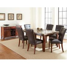 Montibello 7 Piece Marble Top Set(Table & 6 Side Chairs)