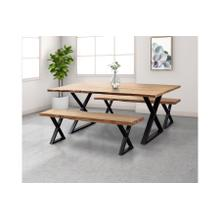 See Details - Manzanita Natural Bench with Different Bases, VCA-BN60N