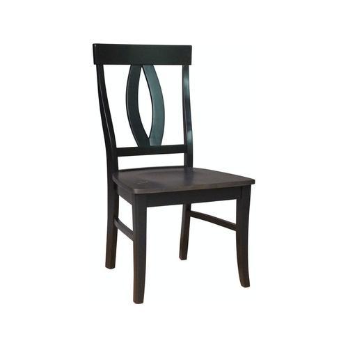 Verona Chair in Coal & Black