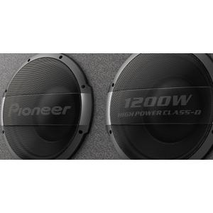 """Pioneer - 12"""" - 3000w Max Power, Built-In 1200w Output Amplifier - Ported Active Enclosure Subwoofer"""