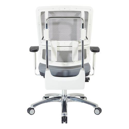Vertical White Mesh Back Chair