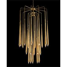 Hans Twenty-Three-Light Brass Chandelier