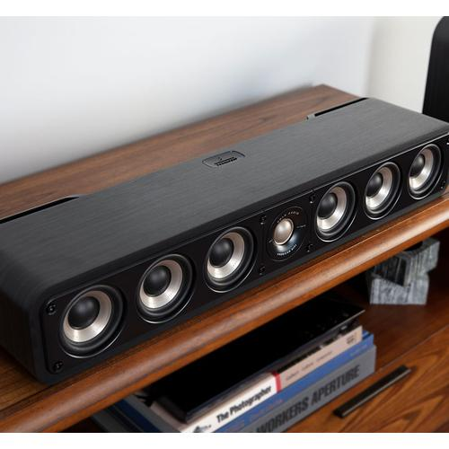 High Resolution Home Theater Slim Center Speaker in Black