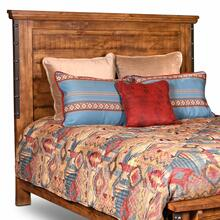 See Details - Rustic City Queen Size Headboard w/ Metal Accents