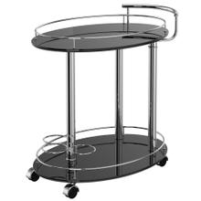 Inka 2-Tier Bar Cart in Black