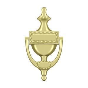 Deltana - Door Knocker, Victorian Rope - Polished Brass