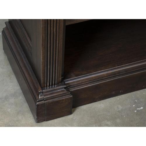 Rosemoor - Bunching Open Bookcase - Burnt Caramel Finish