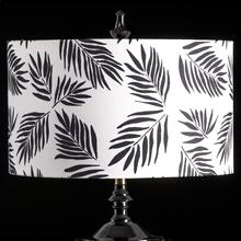 BLACK PALM MIXOLOGY SHADE  LARGE  11in X 19in  Available in three sizes this lighting collection