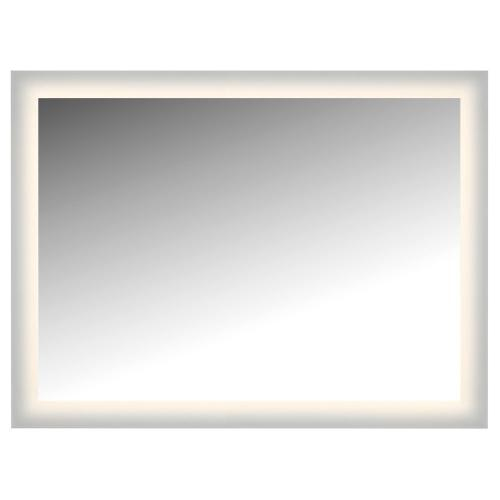 "LED Lighted Mirror Wall Glowed Style Frosted Glass. 48""H X 36""W. CRI: 81"