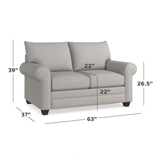 Bassett Furniture - Alexander Roll Arm Loveseat