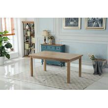 Mod Urban Style White Wash Wood Dining Table