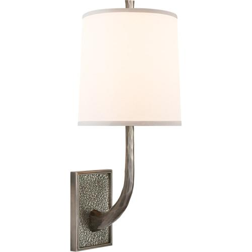 Visual Comfort BBL2030PWT-S Barbara Barry Lyric Branch 1 Light 8 inch Pewter Finish Decorative Wall Light