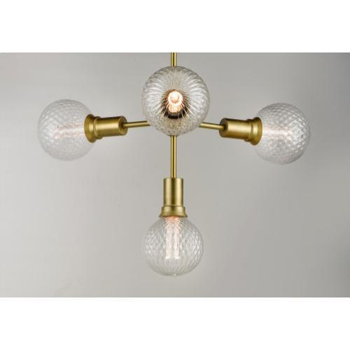 Molecule 4-Light Pendant with G40 PR LED Bulbs