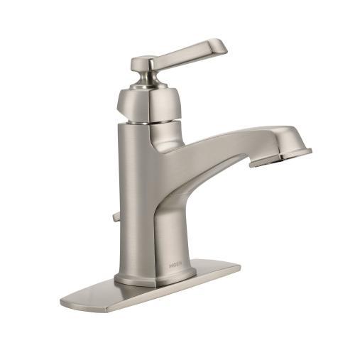 Boardwalk Spot resist brushed nickel one-handle bathroom faucet