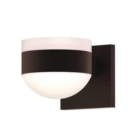 Sonneman - A Way of Light - REALS® Up/Down LED Sconce [Color/Finish=Textured Bronze, Lens Type=White Cylinder Lens and Dome Lens]