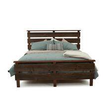 Hillsboro Bed (barnwood or Walnut) - Calking Bed Headboard Only (walnut)