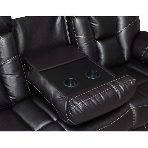 Squire Reclining Sofa w/Dropdown Console