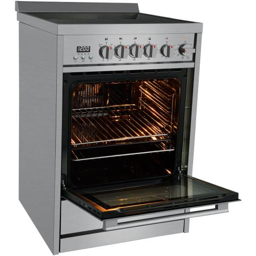 Galanz 2.2 Cu Ft Radiant Electric Range in Stainless Steel