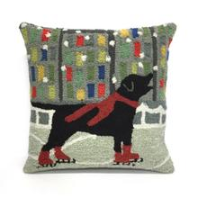View Product - Liora Manne Frontporch Holiday Ice Dog Indoor/Outdoor Pillow Red