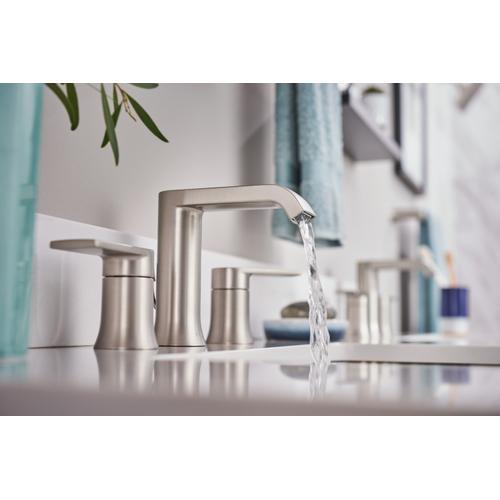 Moen - Genta ™ Two-Handle Bathroom Faucet in Spot Resist Brushed Nickel