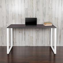 "Commercial Grade Industrial Style Office Desk - 55"" Length (Rustic Gray)"