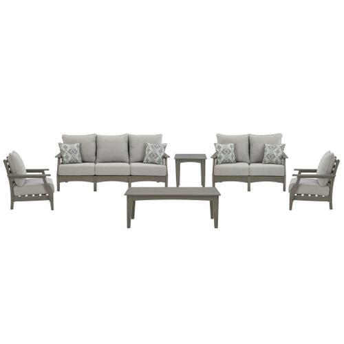 Gallery - Outdoor Sofa and Loveseat With 2 Lounge Chairs and End Table