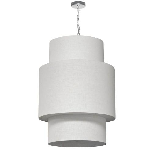 Product Image - 7lt 3tier Drum Lam Linen Milano White W/fab Diff