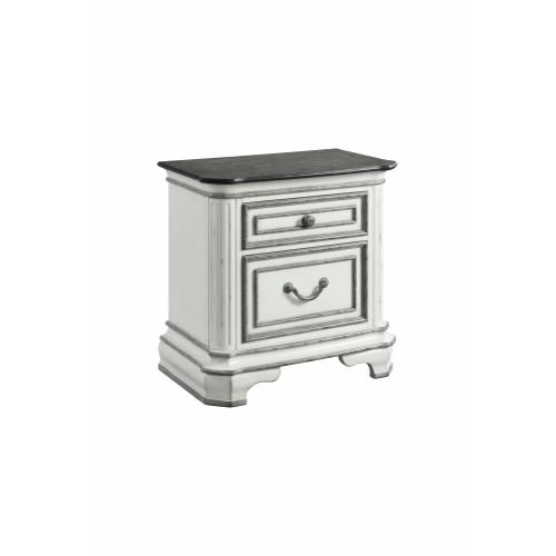 Leighton Manor Antique White Bedroom - King Bed, Dresser, Mirror, Chest, and Night Stand