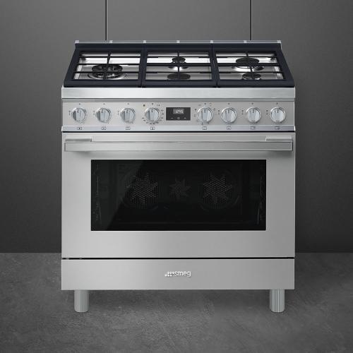 "Portofino Pro-Style Dual Fuel Range, Stainless Steel, 36"" x 25"""